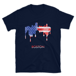 Boston USA American Flag T-Shirt Gift