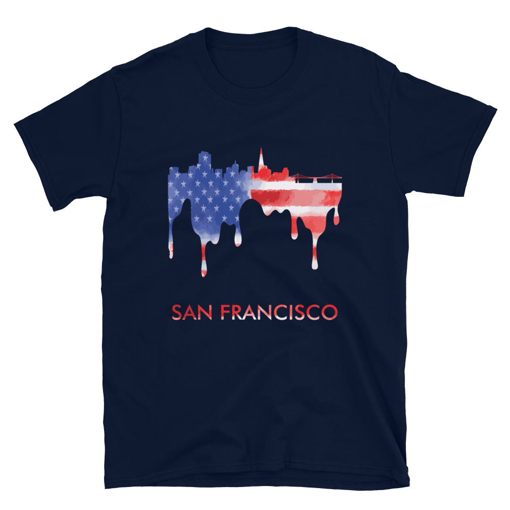 San Francisco USA American Flag T-Shirt Gift