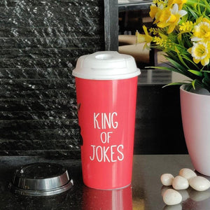 Stallion Designer Tumbler With Lid Multicolour - 475 ml - KINGS OF JOKES
