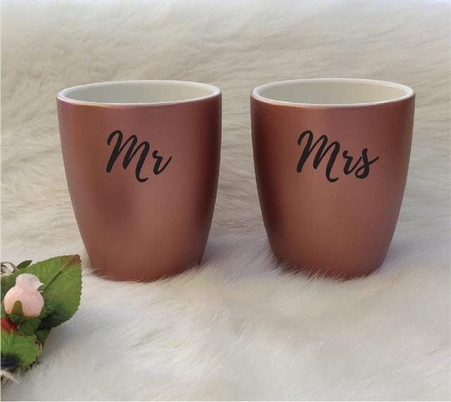 Stallion Barware Polycarbonate Unbreakable Coffee Mugs (Rose Gold SoulMates , 300 ml) - Set of 2