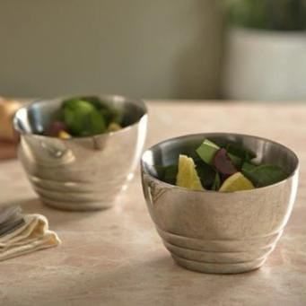 Ribbed Nut Bowl Set of 2 - Arttdinox | Bowl
