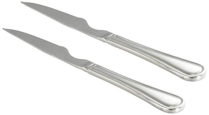 Sanjeev Kapoor Omega Stainless Steel Steak Knife Set, 2-Pieces, Silver | cu