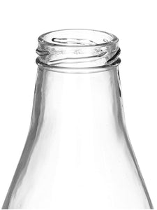 Smartserve Glass Bottle with lid, 6 pieces, 1000 ML