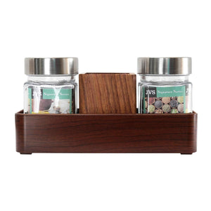 JVS Signature Series 2 Treo Jars (310ml) with 1 Cutlery Holder