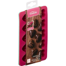 Load image into Gallery viewer, Trudeau Silicone Chocolate Mould Set, Set of 3, Pink/Green/Red