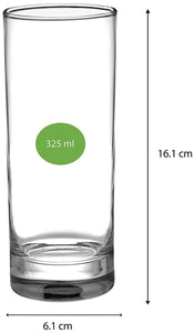 Uniglass Classico Cocktail & Juice Drinking Glass 325 ML, Set of 6 pcs