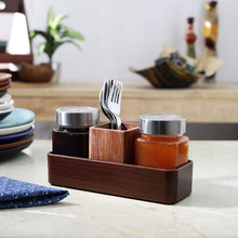 Load image into Gallery viewer, JVS Signature Series 2 Treo Jars (310ml) with 1 Cutlery Holder
