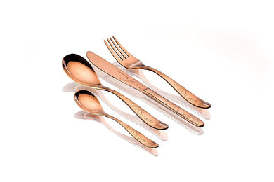 Sanjeev Kapoor Arc Stainless Steel Cutlery Set, 24-Pieces, Rose Gold Titanium | Cutlery Set