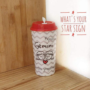 Stallion Zodiac Tumbler With Lid Multicolour - 475 ml - GEMINI