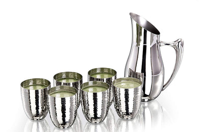 Sanjeev Kapoor Stainless Steel Drinkware Set, 6 Tumbler and 1 Jug