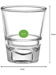 Uniglass Oxford Shot Glass Set 45 ML, Set of 6 pcs