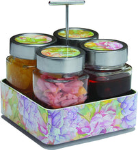 Load image into Gallery viewer, JVS Revolving Organiser Treo Jars Lavender, 310 ml , Multicolour, 4 jars-1 stand-1 handle