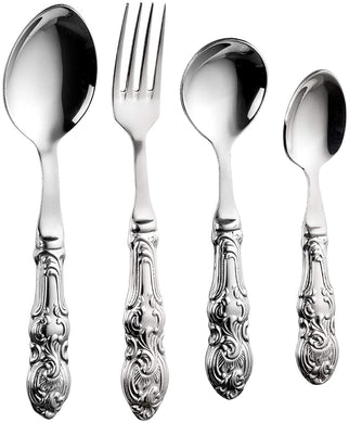 Sanjeev Kapoor Empire Stainless Steel Cutlery Set, 24-Pieces