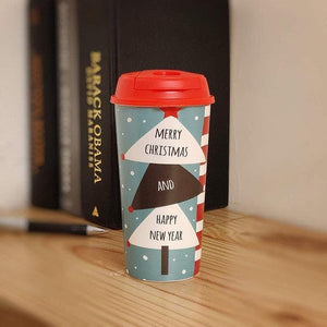 Stallion Designer Tumbler With Lid Multicolour - 475 ml - MERRY XMAS & HAPPY NEW YEAR