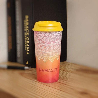 Stallion Designer Tumbler With Lid Multicolour - 475 ml - NAMASTE