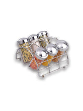 Load image into Gallery viewer, JVS SPICE RACK 6 JAR Chrome