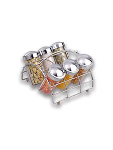 JVS SPICE RACK 6 JAR Chrome