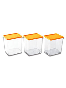 JVS Transparent Container 600 ml 3 Pcs