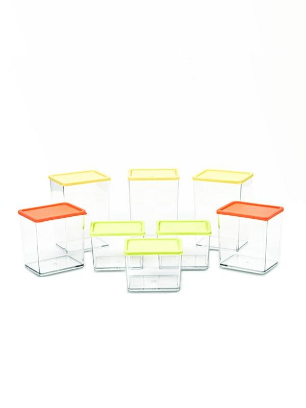 JVS Foodgrade Transparent Container 8 Pcs - SmartServe Houseware