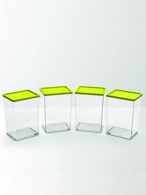 JVS Foodgrade 800 ml Containers green 4 Pcs - SmartServe Houseware