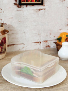 JVS Sandwich Box Transparent set of 4 Pcs