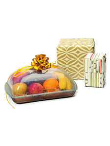JVS Mystic Fruit Basket Brown Large set of 3