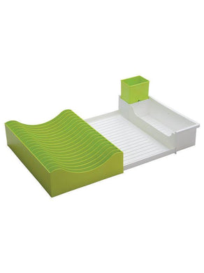 JVS Waves Extendable Dish Drainer -Green