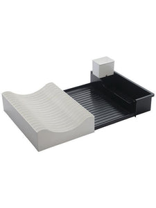 JVS Waves Extendable Dish Drainer -Black
