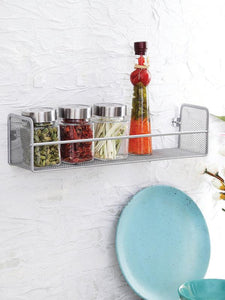Silver kitchen shelf Space Organizer