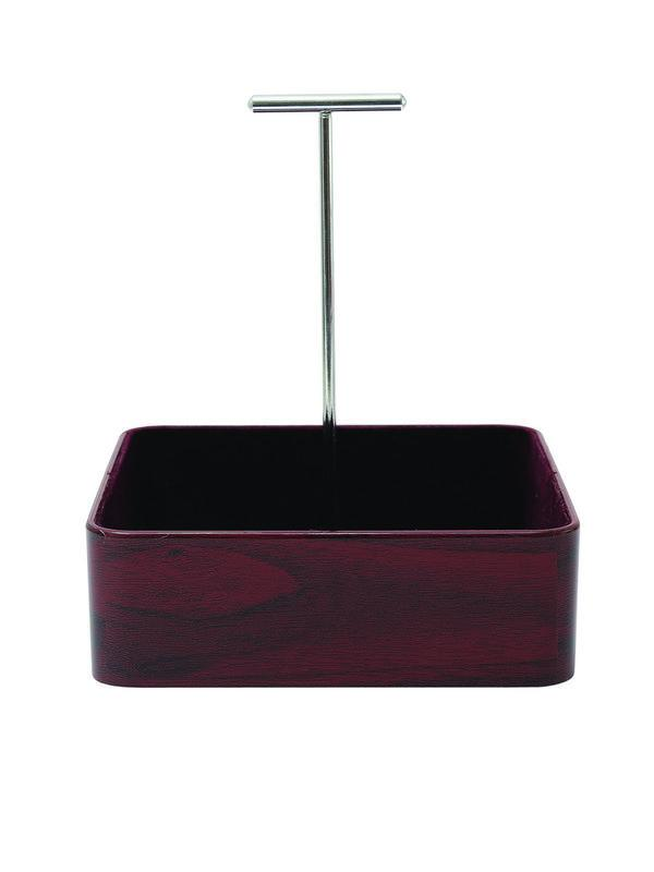 JVS Mini Organiser Square Mahogany | Tableware