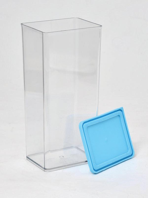 JVS Transparent 1225ml Container BLUE 2 Pcs