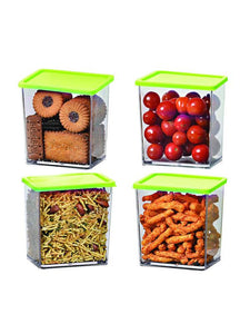 Foodgrade 600ml Containers green 4 Pcs