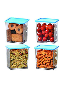 Foodgrade 600ml Containers blue 4 Pc Set