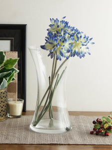 Bohemia Crystal Vase, Height: 255 MM, Set of 1 pc, Transparent, Non Lead Crystal