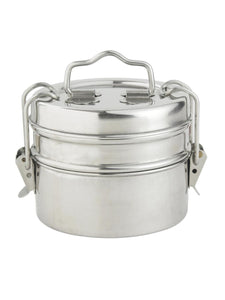 Smartserve Stainless Steel Containers with Locking Clip Tiffin Dabba, Set of 2 Containers