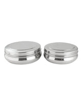 Load image into Gallery viewer, Smartserve Stainless Steel Dabba Food Storage Containers, (Set of 2- 17cm Dia & 19cm Dia)