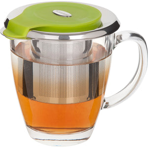 Trudeau Stainless Steel Tea Infuser-Flip, Green