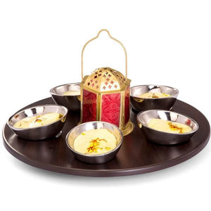 Sanjeev Kapoor Stainless Steel Bowl and Tray Set, 5 Bowl, 1 Tray and 1 Tea Light