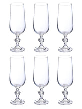 Load image into Gallery viewer, Bohemia Crystal Claudia Champagne Flute Drinking Glass 180ml Set of 6 pcs, Tranparent, Non Lead Crystal
