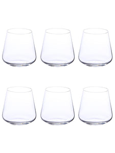 Bohemia Crystal Sandra Whiskey Glass Set, 290 ML, Set of 6 pcs.