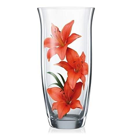 Bohemia Crystal Non Lead Crystal Glass Vase, Height: 255 mm, Transparent