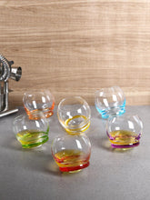 Load image into Gallery viewer, Bohemia Crystal Crazy Glass Set, 390 ML, Set of 6pcs.
