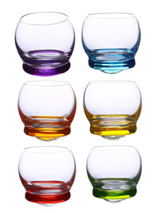 Bohemia Crystal Crazy Shot Glass Set, 60 ML, Set of 6 pcs