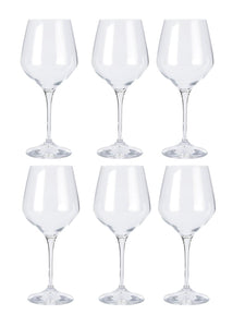 Bohemia Crystal Non Lead Crystal Rebecca Wine Glass 820 ML Set of 6 pcs, Transparent, Non Lead Crystal
