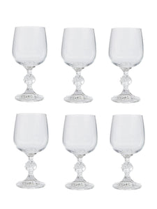 Bohemia Crystal Claudia Wine Glass 230ml, Set of 6 pcs, Transparent, Non Lead Crystal