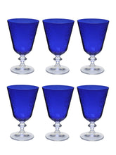 Load image into Gallery viewer, Bohemia Crystal Bella Dark Blue Pantograph cocktail glass 350 ML set of 6 pcs , Transparent , Non - lead Crystal | Cocktail Glass