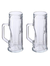 Load image into Gallery viewer, Oberglas Premium Ribbed Beer Mug 550 ML Set of 2pcs