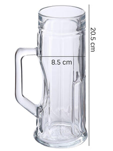 Oberglas Premium Ribbed Beer Mug 550 ML Set of 2pcs