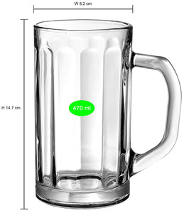 Uniglass Nicol Beer Mug 500 ML, Set of 2 pcs.