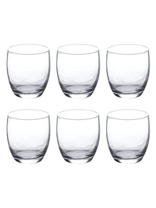 Uniglass, Anika Juice,Water, Drinking Glass Set, 245ml, Set of 6pcs, Transparent